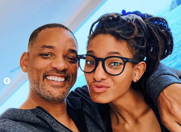 O ator Will Smith com a filha Willow Smith (Foto: Instagram)