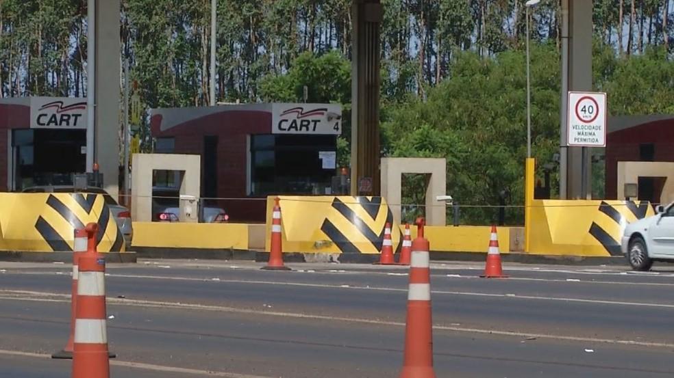 Novas tarifas de pedágio já estão em vigor na região de Ourinhos  — Foto: TV TEM / Reprodução