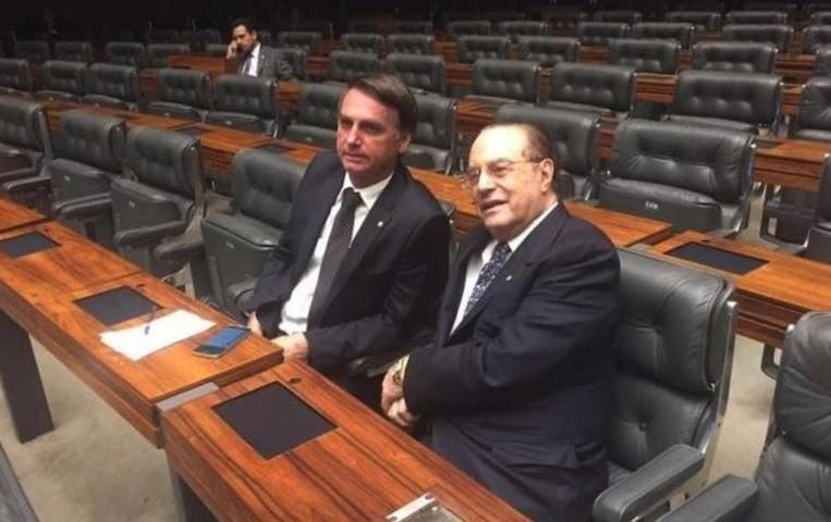 Bolsonaro ao lado de Maluf