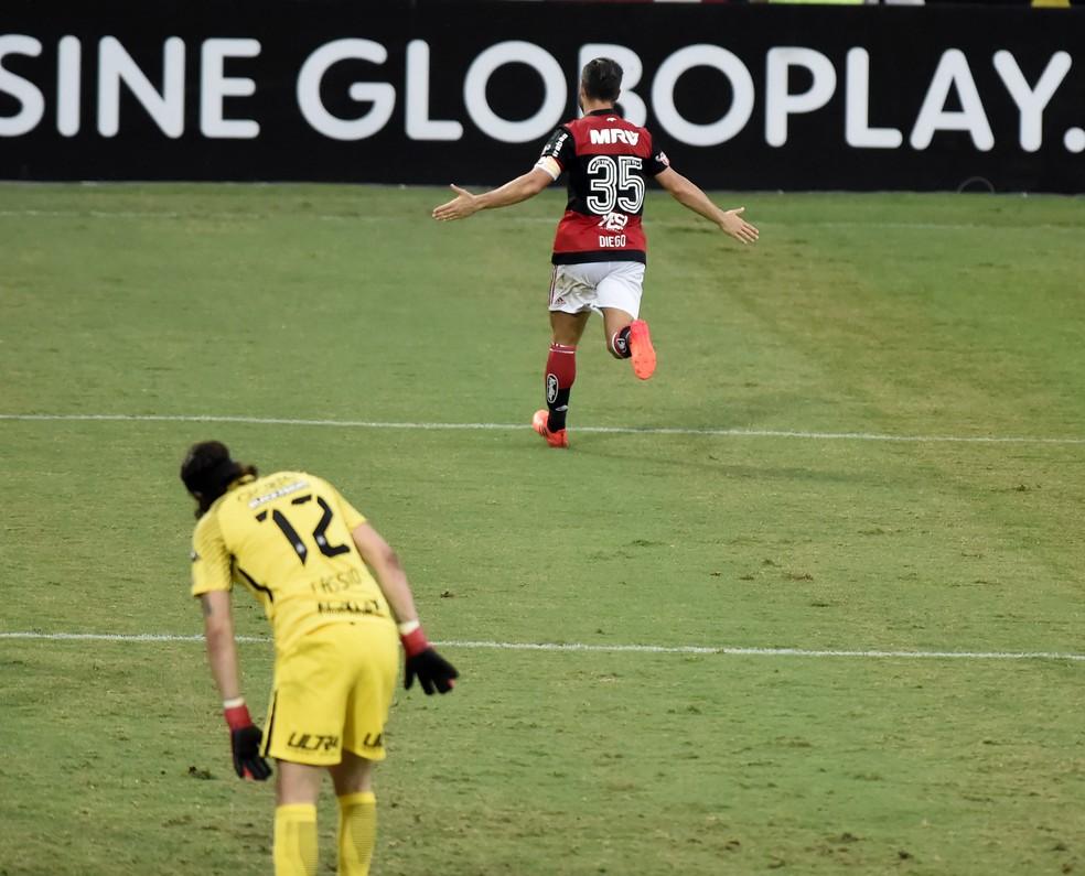 Flamengo venceu o Corinthians por 3 a 0 e chega a 88% de chances de se classificar para a Libertadores (Foto: André Durão)