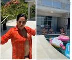Gloria Pires e, ao lado, Cleo com duas visitas | Reprodução/Instagram