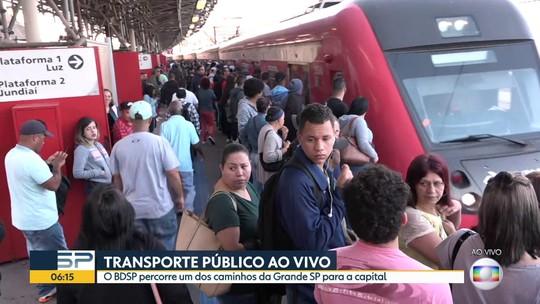 Transporte público ao vivo no BDSP