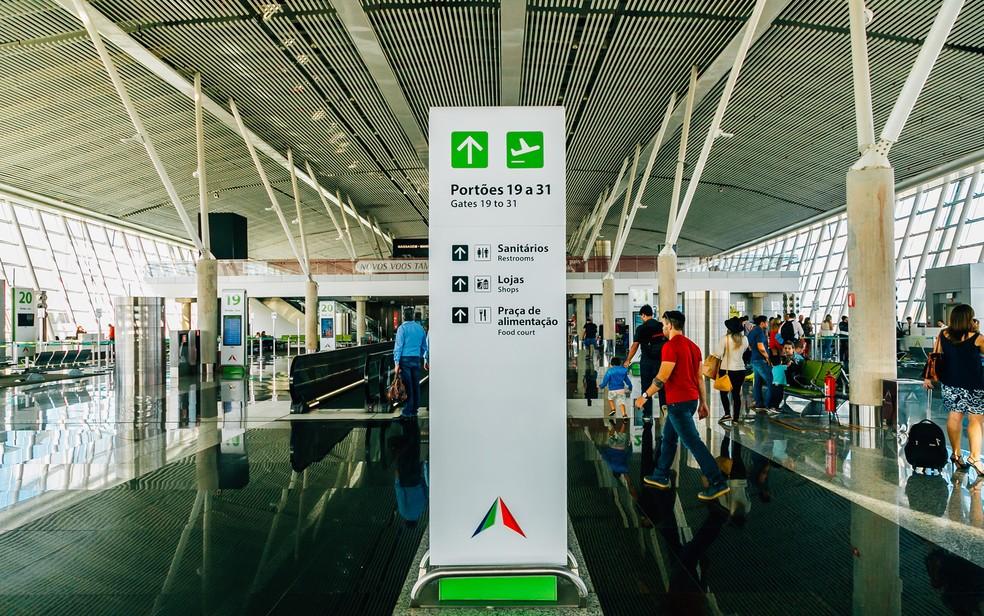 Sala de embarque do Aeroporto de Brasília — Foto: Aeroporto de Brasília/Divulgação