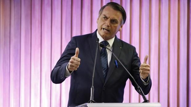 O presidente Jair Bolsonaro em cerimônia na Federação das Indústrias do Estado do Rio de Janeiro (Firjan) (Foto: Fernando Frazão/Agência Brasil)