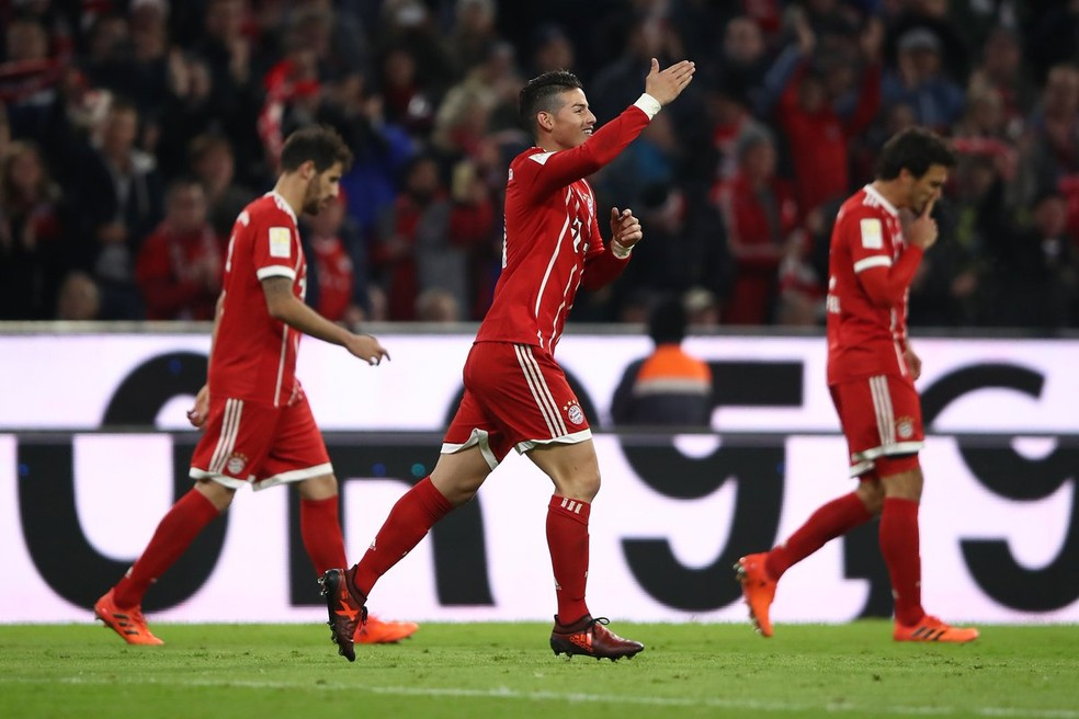 James Rodríguez se despede do Bayern de Munique — Foto: Reprodução/Twitter