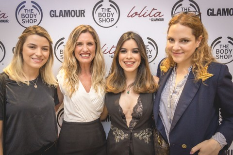Caroline Domingues, da Index, Débora Gentil, gerente de marketing da The Body Shop, Berenice Pamplona, influencer, Renata Kalil, editora de beleza