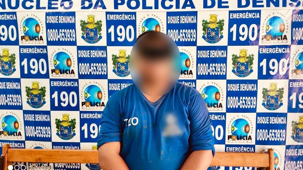 Gelso Castro Salustiano da Silva foi preso em Denise. — Foto: PM-MT