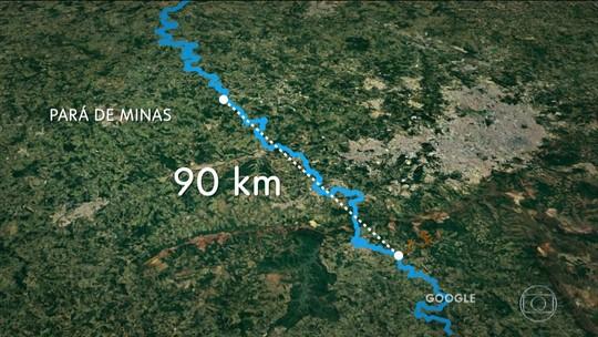 Trecho do Rio Paraopeba está morto, segundo Fundação S.O.S Mata Atlântica