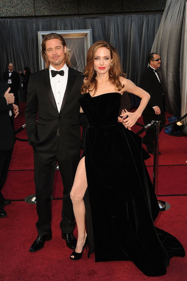 Brad Pitt e Angelina Jolie no Oscar 2012 (Foto: Getty Images)