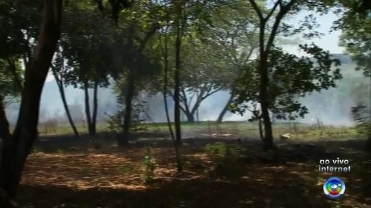 Incêndio atinge terreno em Marília e fumaça incomoda moradores