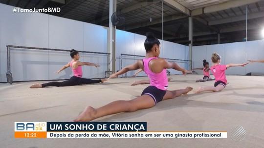 Conheça a baiana de 13 anos que sonha em ser uma ginasta profissional