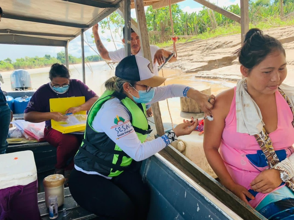 Acre imunizou mais de 59% dos indígenas que vivem em aldeias — Foto: Arquivo/Dsei Purus