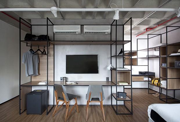 FGMF Arquitetos assina os novos quartos de hotéis do Ibis  (Foto: Fran Parente)