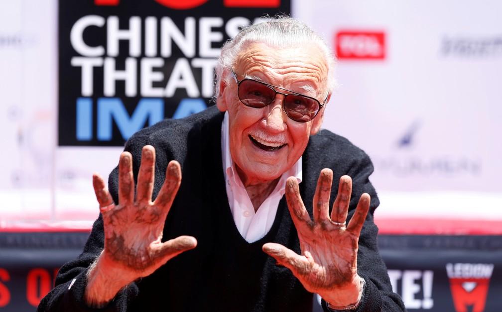 Stan Lee ganhou estrela na calçada da fama em 2011 — Foto: Reuters/Mario Anzuoni