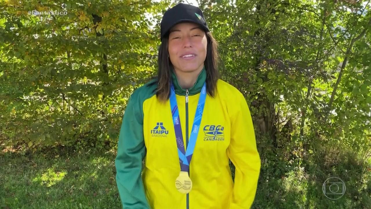 Brasileira conquista ouro inédito na Copa do Mundo de canoagem slalom, na Eslovênia