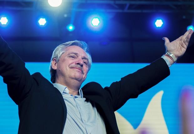 O candidato da oposição na Argentina, Alberto Fernández (Foto: Getty Images)