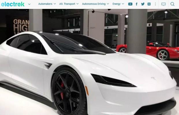 Tesla Roadster mostrado no Grand Basel (Foto: Reprodução)