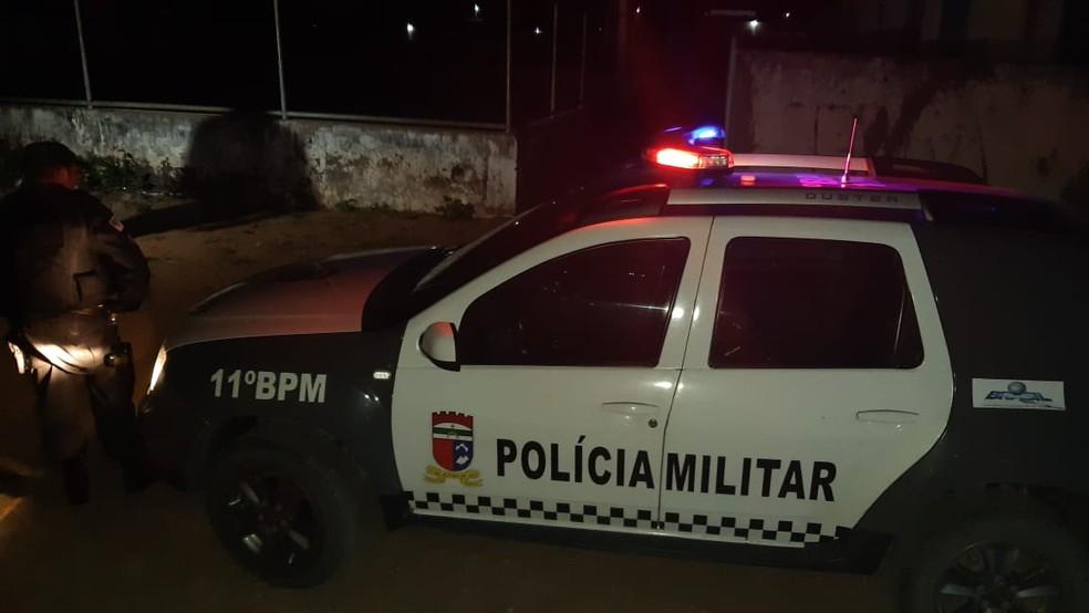 Homem foi morto a tiros em Macaíba, na Grande Natal — Foto: Sérgio Henrique Santos/Inter TV Cabugi