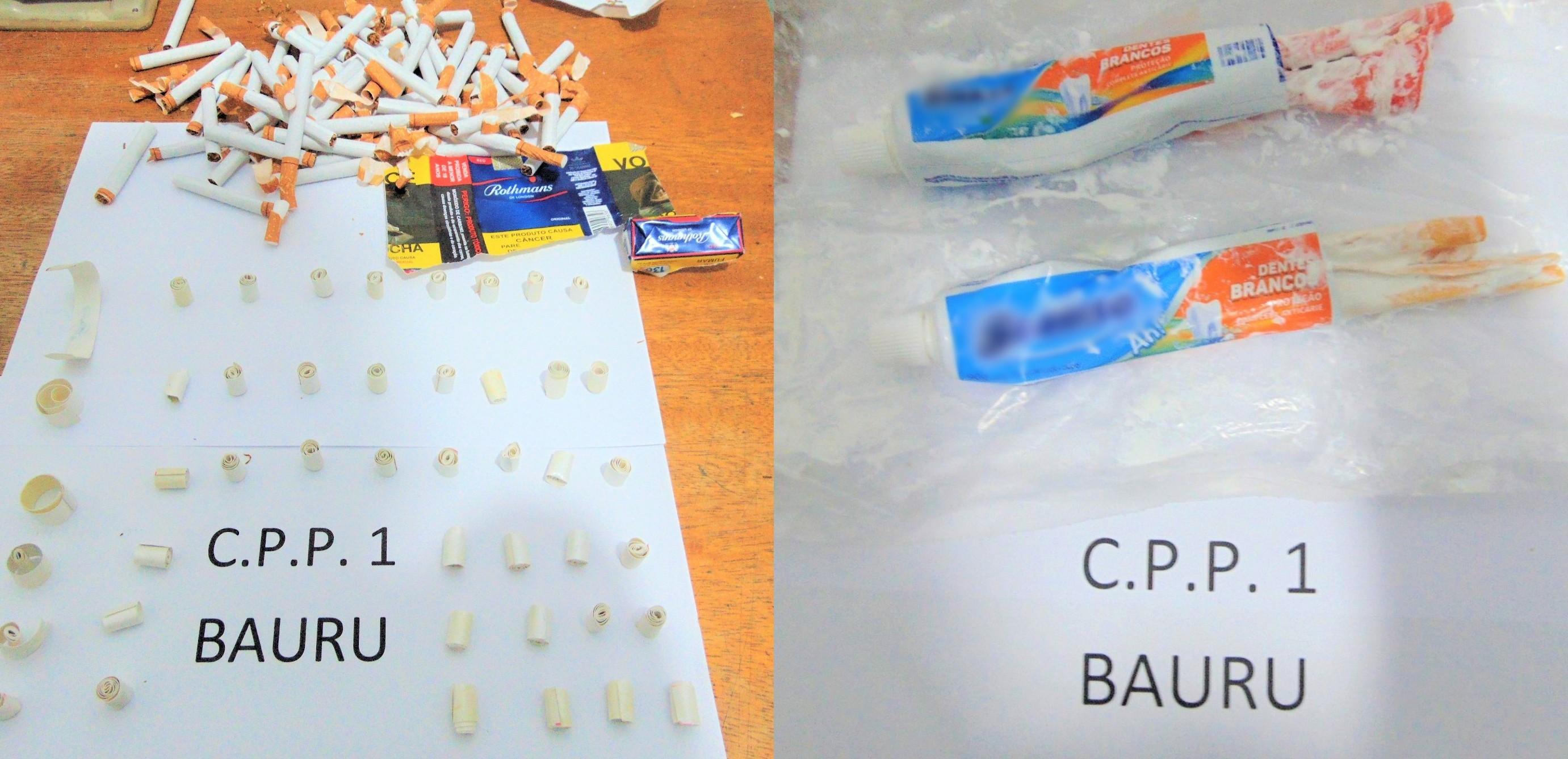 Agentes acham droga sintética dentro de cigarros e de creme dental enviados a presos de Bauru