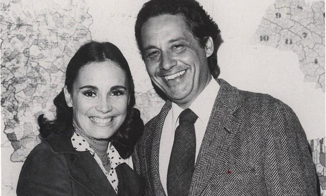 Regina Duarte e Fernando Henrique Cardoso