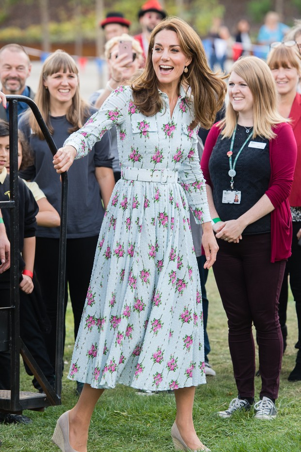 "WOKING, ENGLAND - SEPTEMBER 10: Catherine, Duchess of Cambridge attends the ""Back to Nature"" festival at RHS Garden Wisley on September 10, 2019 in Woking, England. (Photo by Samir Hussein/WireImage) (Foto: WireImage)"