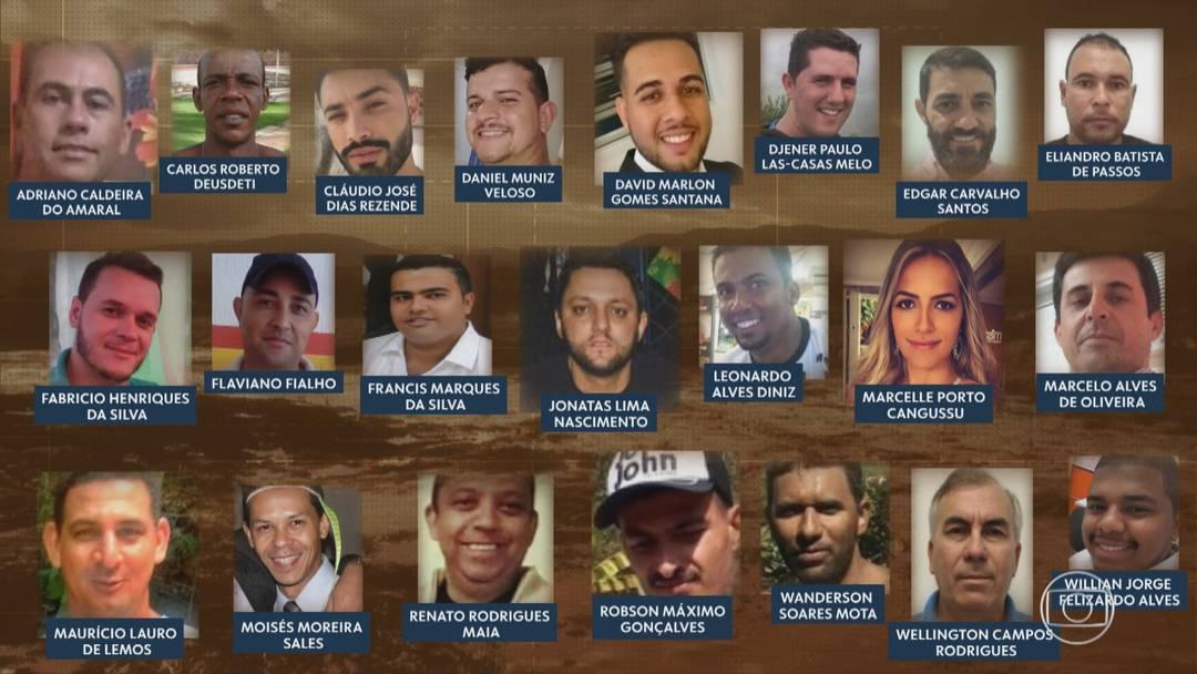 As 22 primeiras vítimas a serem identificadas em Brumadinho