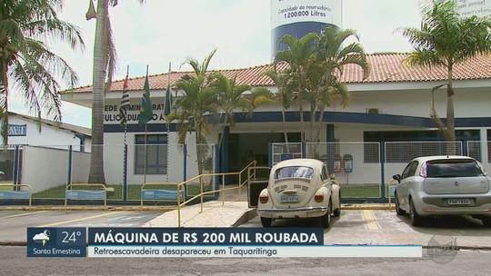 Polícia Civil apura roubo de retroescavadeira de autarquia da Prefeitura de Taquaritinga, SP