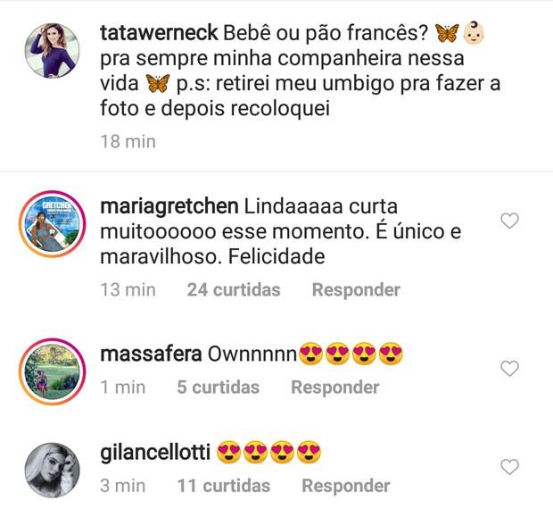 Tatá Werneck ganha carinho de famosos (Foto: Reprodução do Instagram )