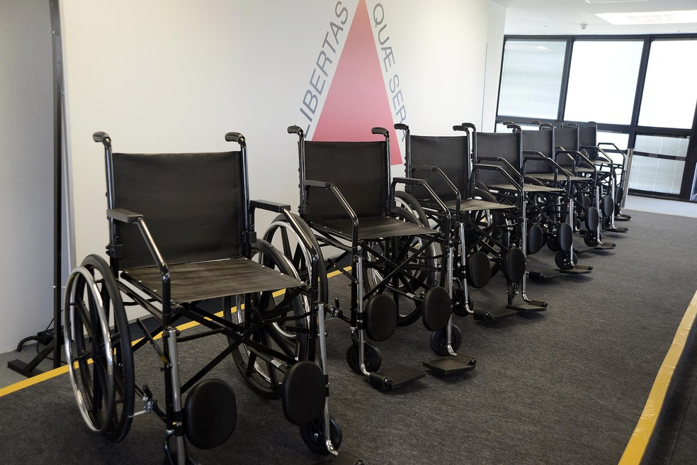 -  Cadeiras de rodas foram entregues pelo Governo Estadual e estarão disponíveis para empréstimos em Itaúna  Foto: Prefeitura de Itaúna/Divulgação