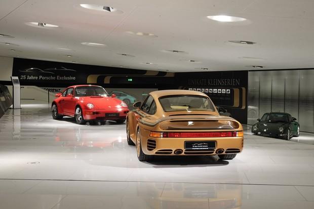 Porsche 959 dourado (Foto: Museu da Porsche)