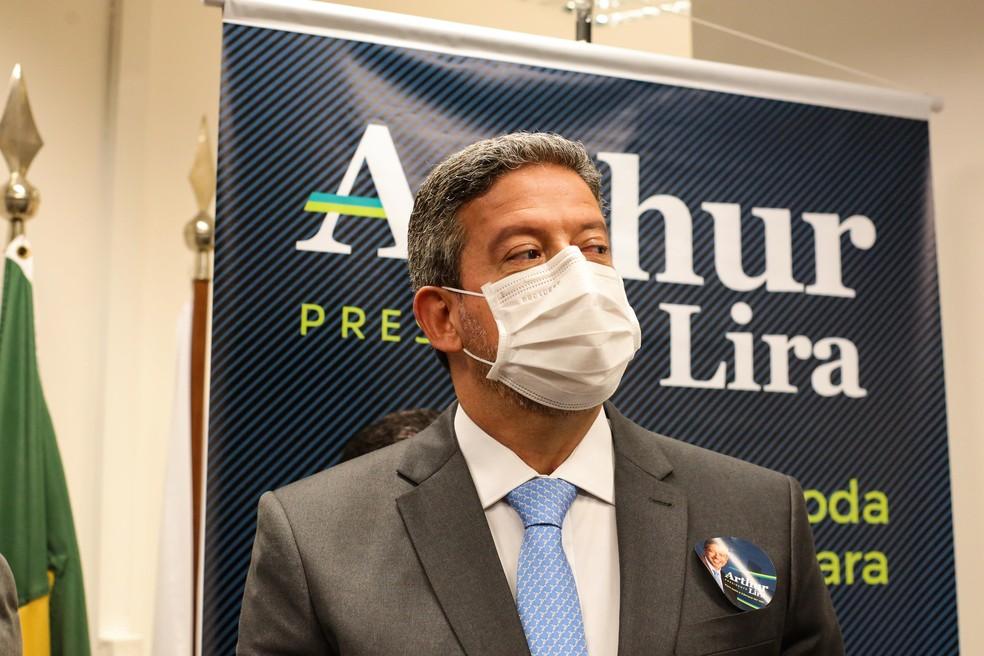 O deputado Arthur Lira, candidato a presidente da Câmara — Foto: Wallace Martins/Futura Press/Estadão Conteúdo
