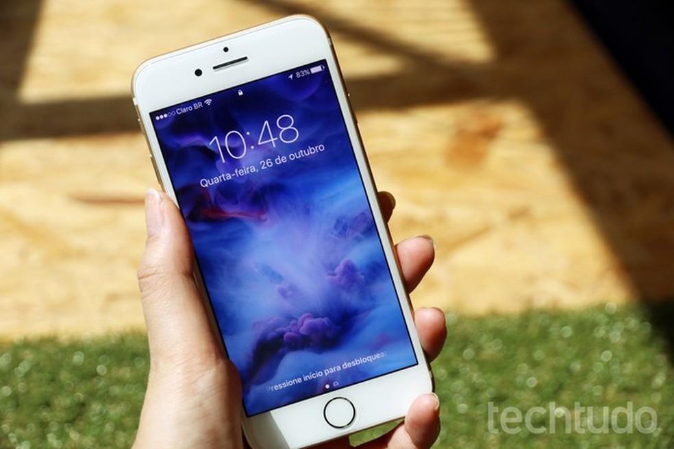 iPhone 6S: tela de 4,7 polegadas — Foto: Anna Kellen Bull/TechTudo