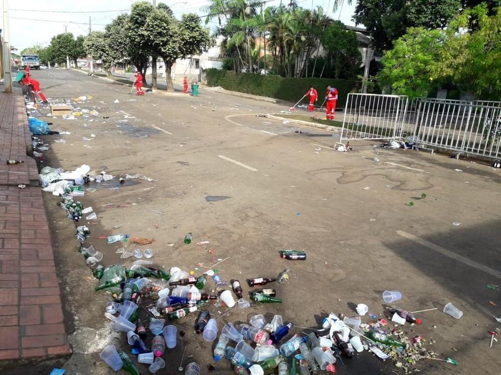 Quase 30 toneladas de lixo são recolhidas em Rio Branco — Foto: Assessoria/SMZC