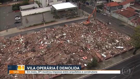 Com obra embargada pela Prefeitura de SP, vila da década de 50 é demolida na Zona Leste