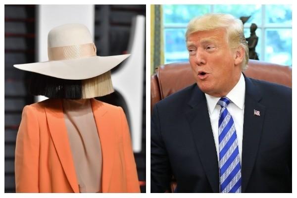 Sia e Donald Trump (Foto: Getty Images)