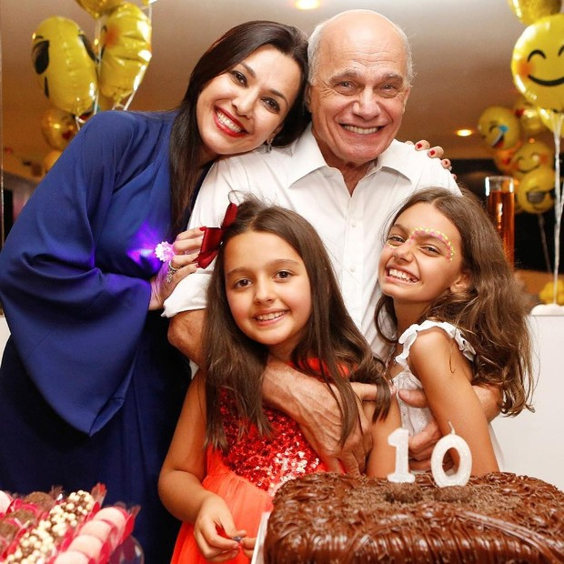 Ricardo Boechat com a família (Foto: Reprodução/Instagram)