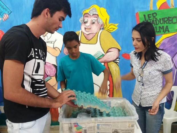 Projeto escolar de Goiás que visa consumo de insetos é apresentado na Costa Rica (Foto: Arquivo Pessoal/Matheus Silva)