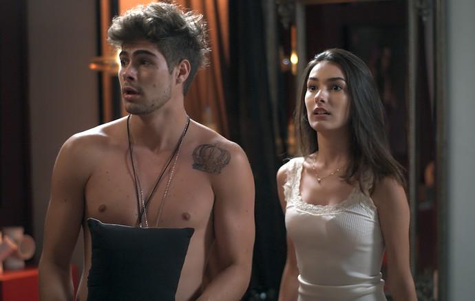 Yasmin é a única pessoa que pode ajudar Léo a sair dessa (Foto: TV Globo)