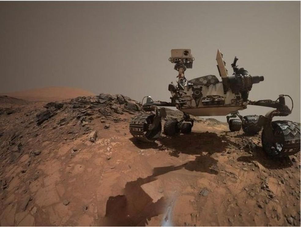 O robô Curiosity pousava em Marte em 2012  (Foto: NASA/JPL-CALTECH/MSSS)
