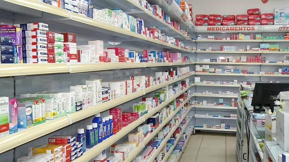 Farmácias em Palmas, no Tocantins (Foto: Reprodução/TV Anhanguera)