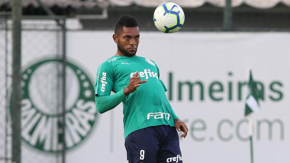 Borja marcou dois gols nos confrontos contra o Godoy Cruz pela Libertadores  Foto Cesar Greco  Ag Palmeiras