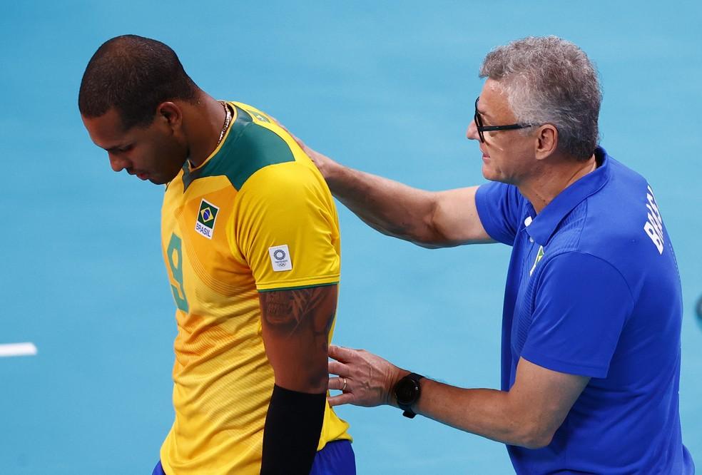 Brasil x ROC - semifinal do vôlei masculino — Foto: REUTERS/Carlos Garcia Rawlins