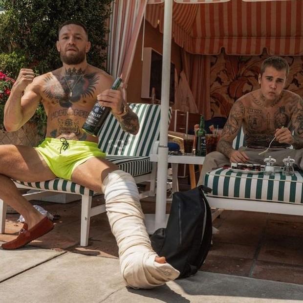 Conor McGregor e Justin Bieber (Foto: Reprodução/ Instagram)