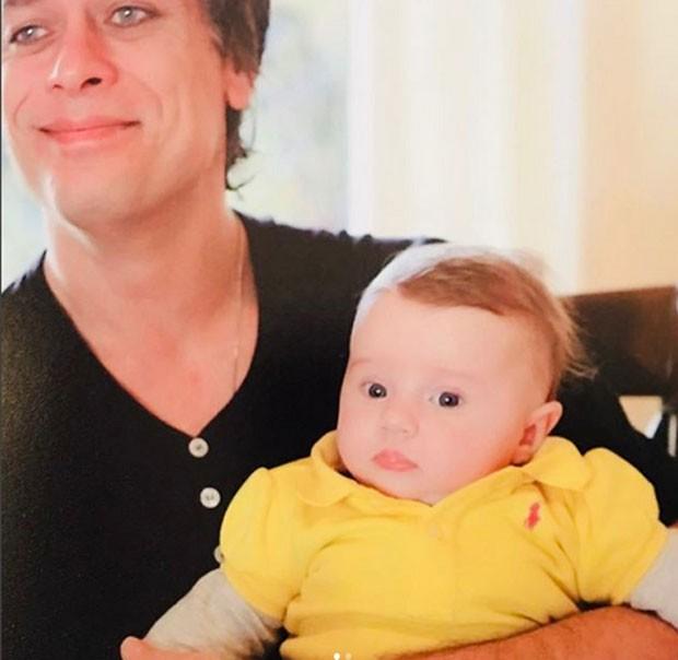 Fábio Assunção e Ella ainda bebê (Foto: Reprodução)
