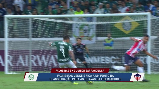 Loffredo , Jana e Fabiola analisaam e elogiaram o desempenho de Dudu contra o Junior Barranquilla
