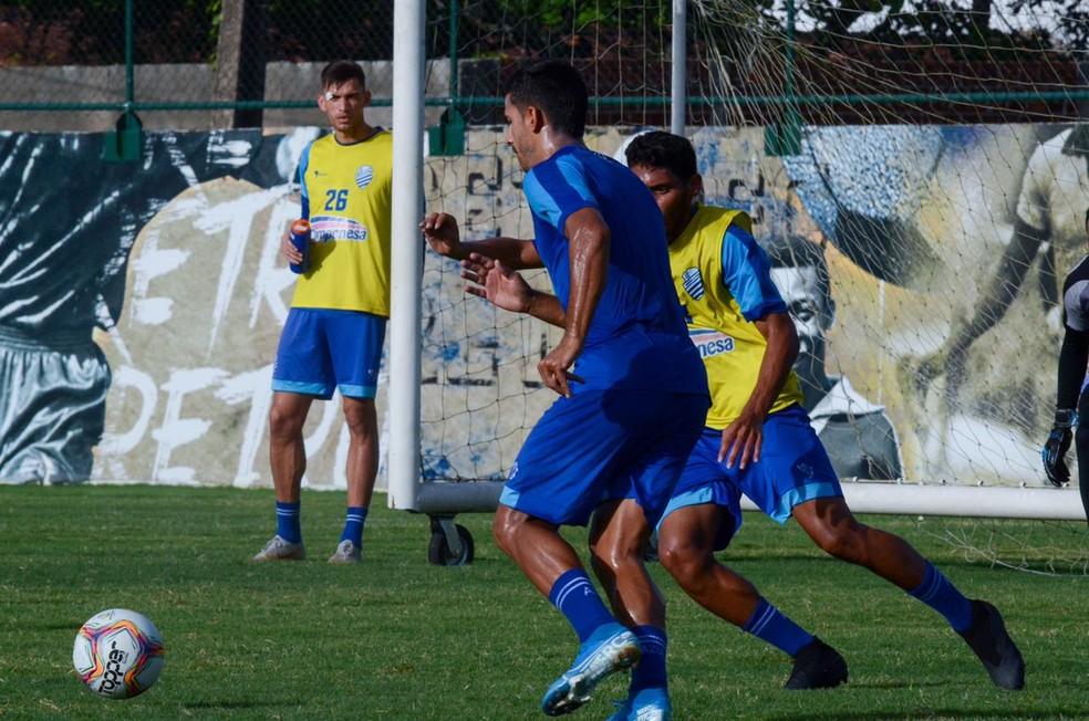 Pré-temporada do CSA em Camaragibe, Pernambuco — Foto: Augusto Oliveira/Ascom CSA