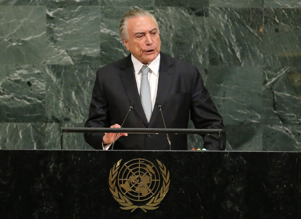 Michel Temer discursa durante abertura da 72ª Assembleia Geral da ONU.