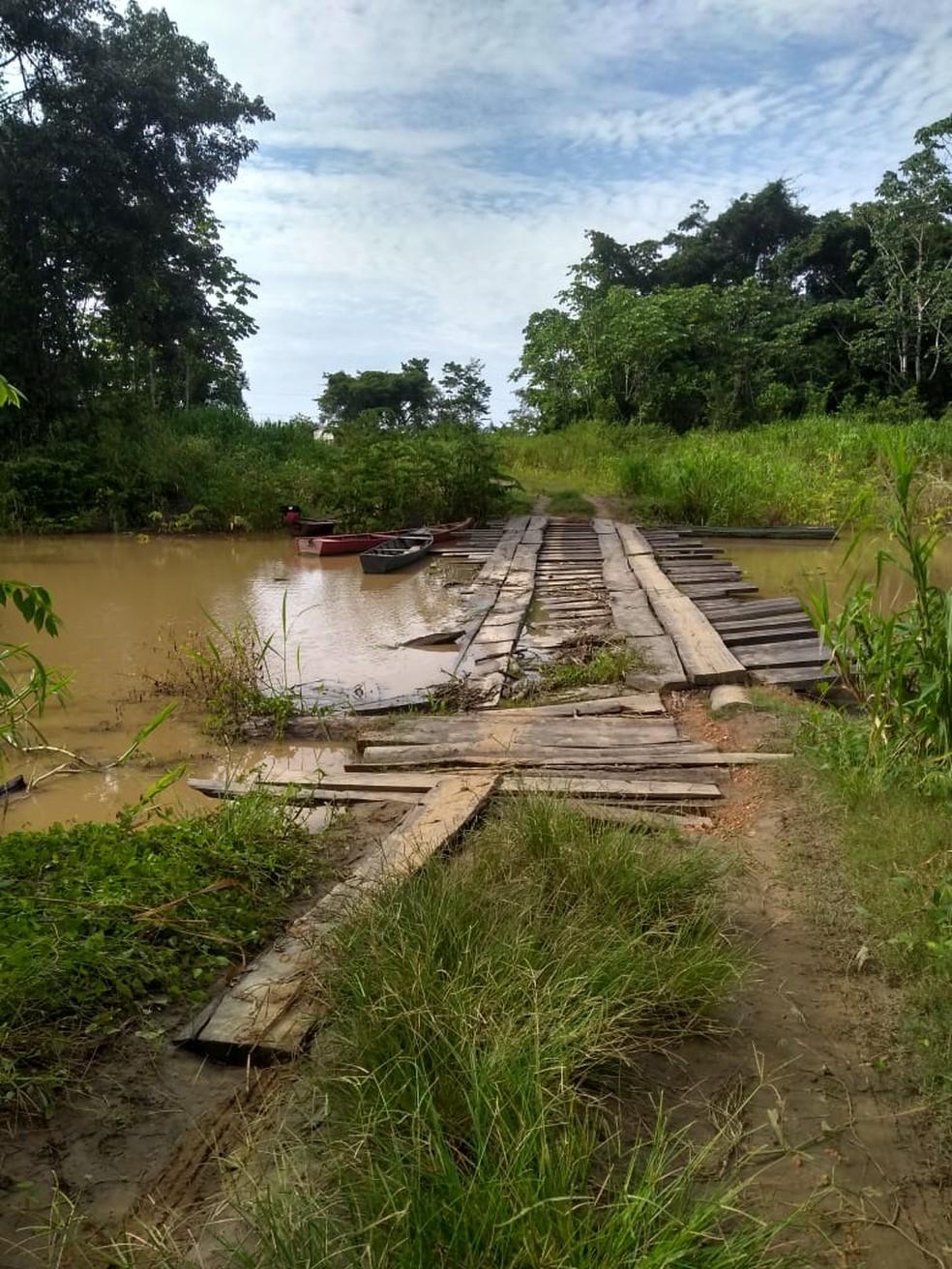 Defesa Civil informou que visitará localidade na manhã de sexta-feira (14).  — Foto: Arquivo pessoal