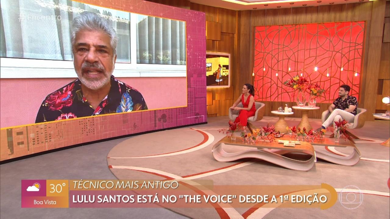 Lulu Santos declara seu amor pelo 'The Voice'