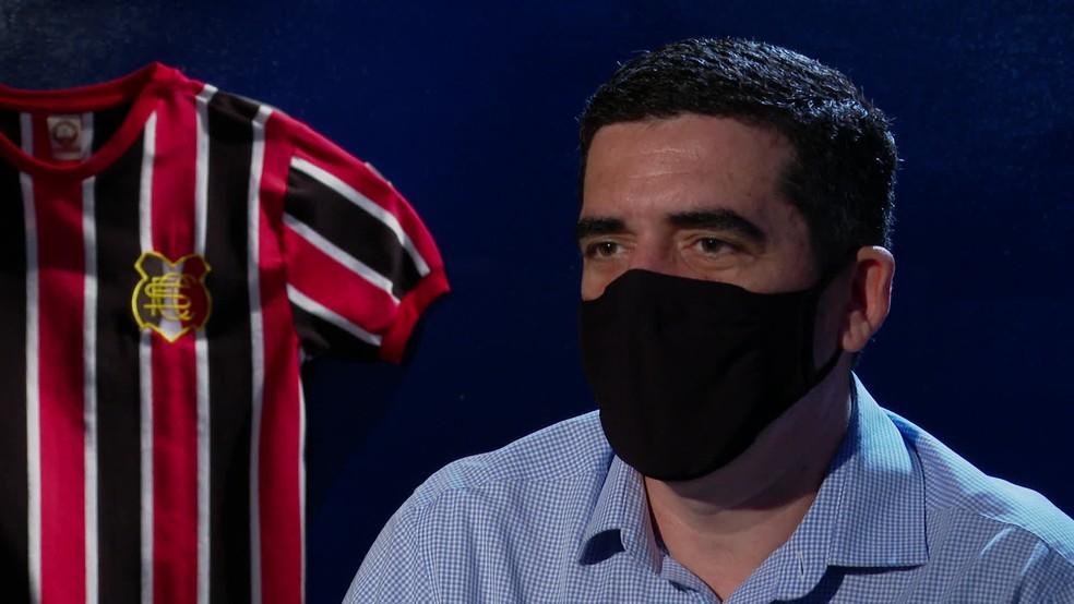 Constantino Júnior concedeu entrevista exclusiva ao Globo Esporte — Foto: Reprodução/TV Globo